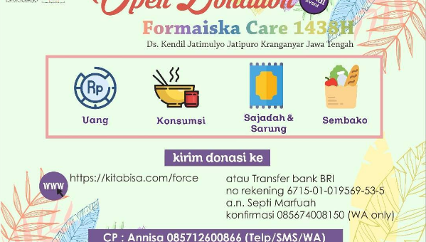 OPEN DONATION FORCE FORMAISKA